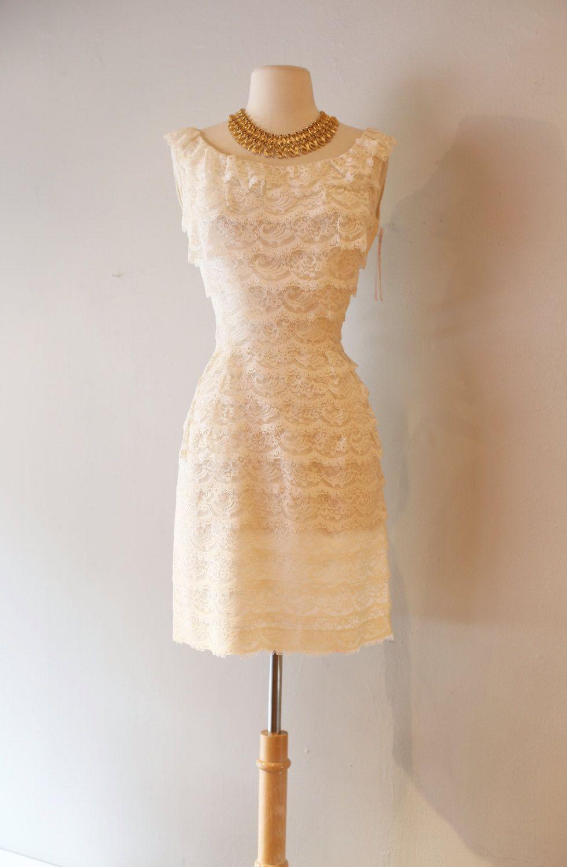 Vintage 1960s White Lace Mini Dress Vintage 60s Mod Wedding Dress 1960s Tiered Lace Cocktail Dress White Lace Mini Dress Cocktail Dress Lace Dresses [ 1500 x 980 Pixel ]