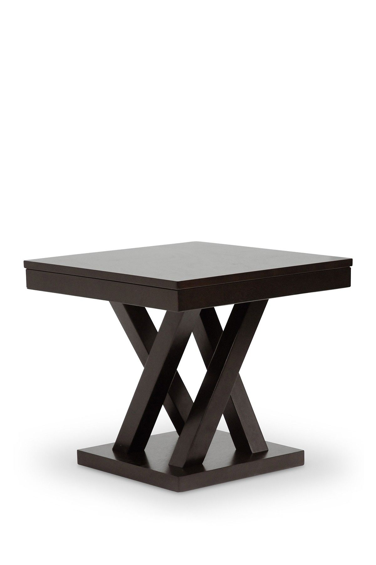 Wholesale Interiors Dark Brown Modern Side Table Modern End Tables Modern Side Table Contemporary Side Tables
