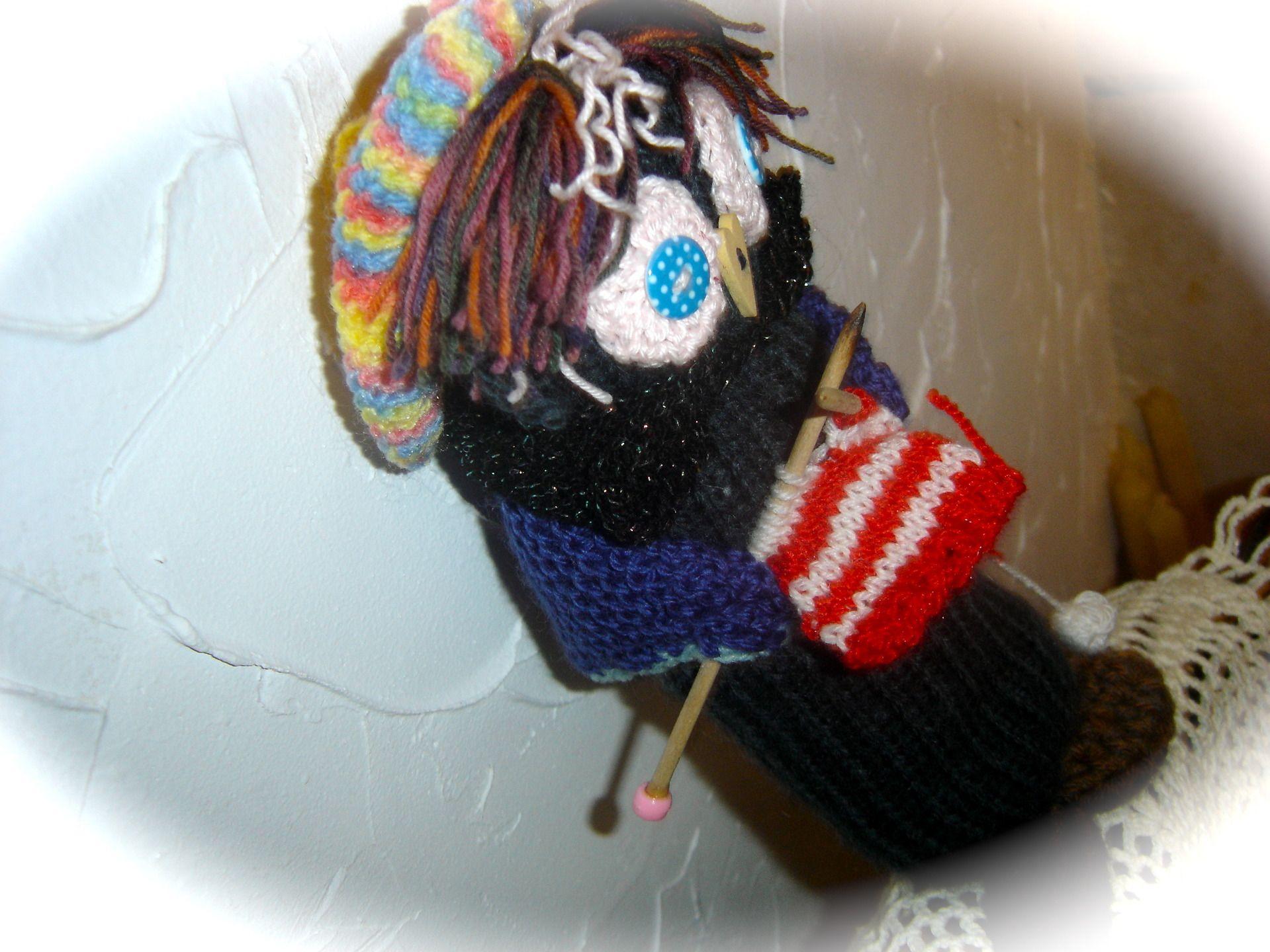 Petite mamy chouette rigolote qui tricote accessoires de - Chouette rigolote ...