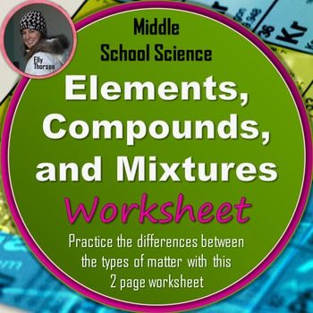 Elements, Compounds, and Mixtures Worksheet Worksheets and Students - copy periodic table of elements quiz 1-18