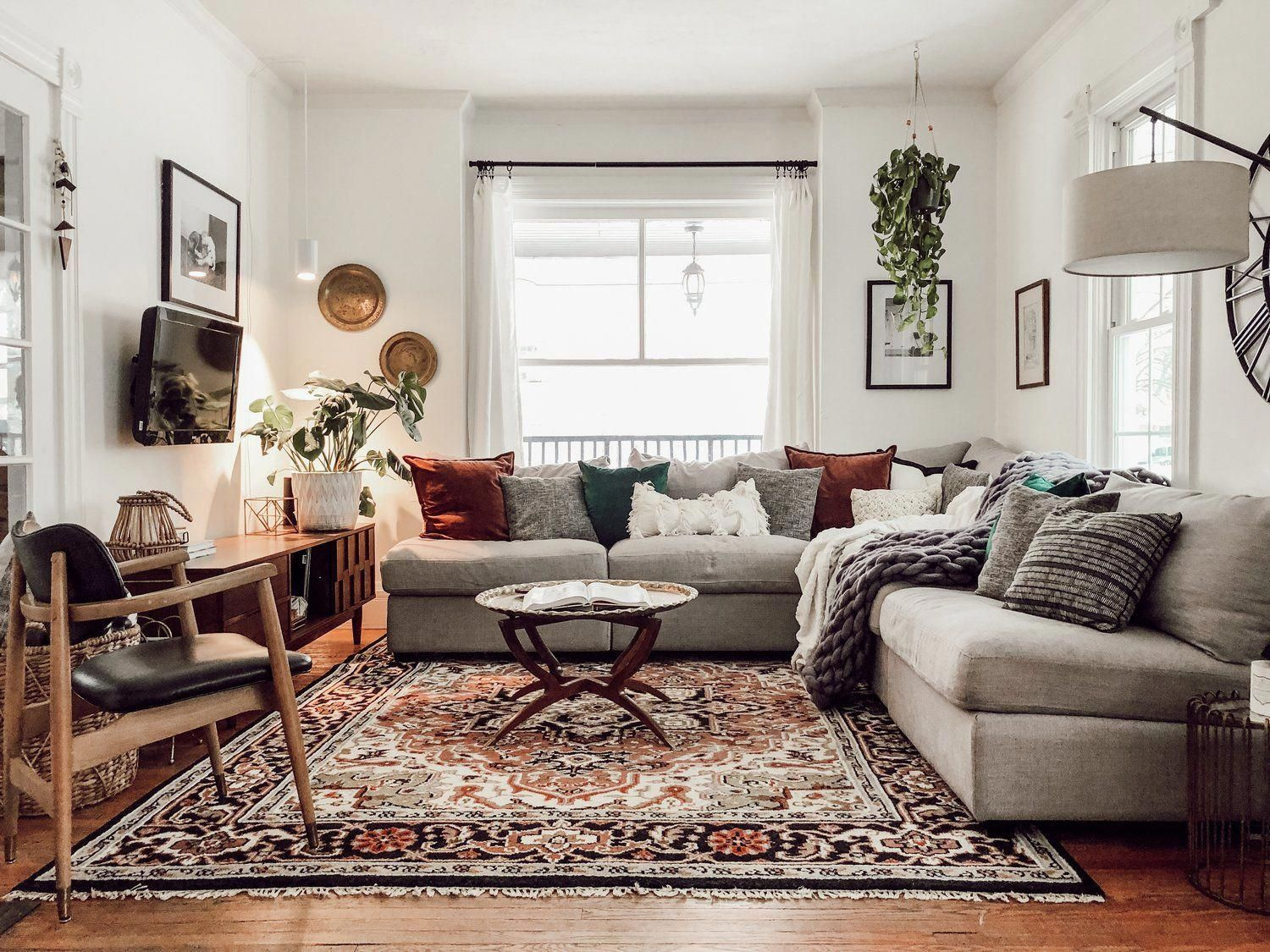 Boho Modern Living Room Miranda Schroeder House Tour Livingroomdecor Modern Boho Living Room Cozy Home Decorating Boho Living Room #neutral #bohemian #living #room