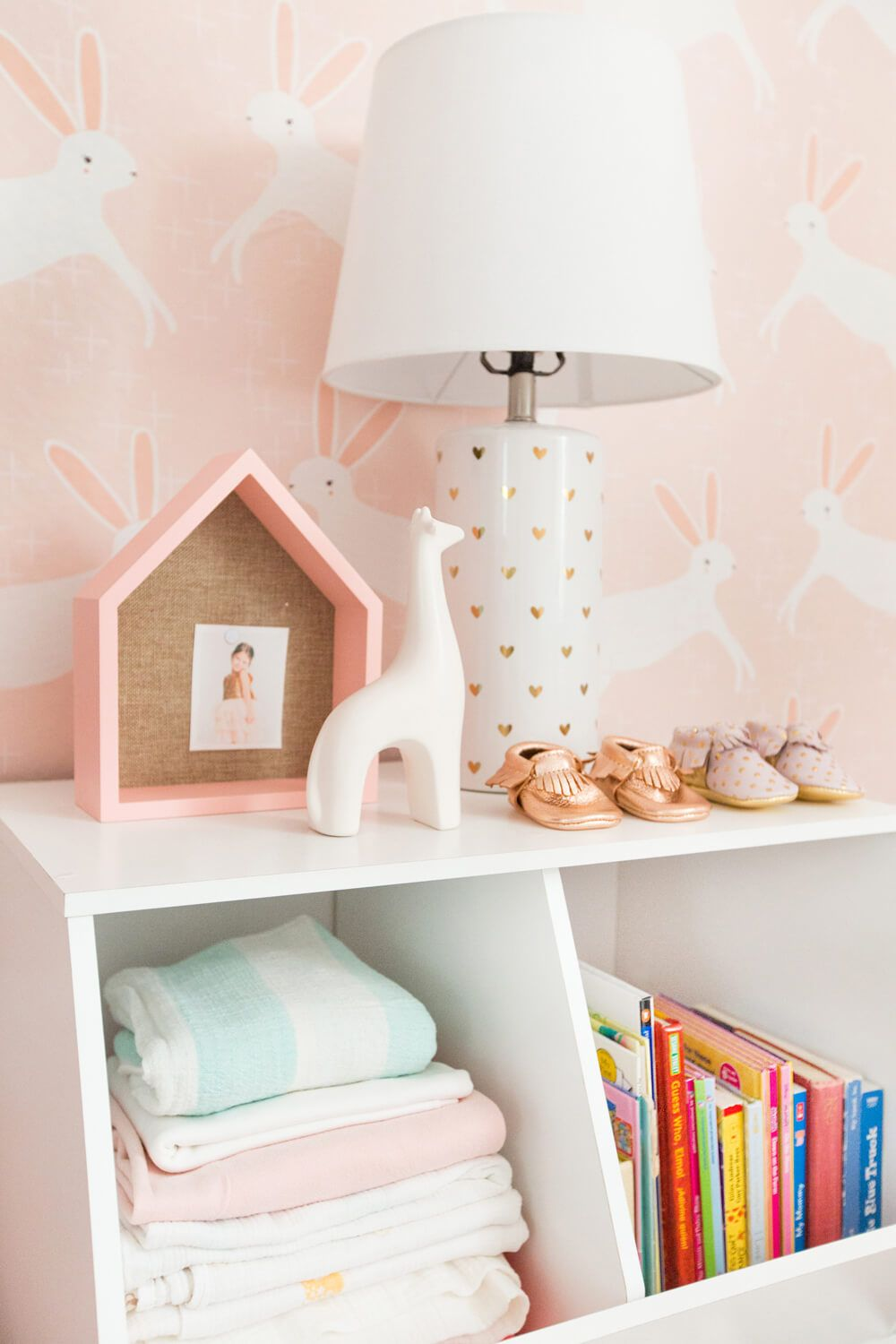 emily henderson pillowfort target nursery makeover baby girl pink