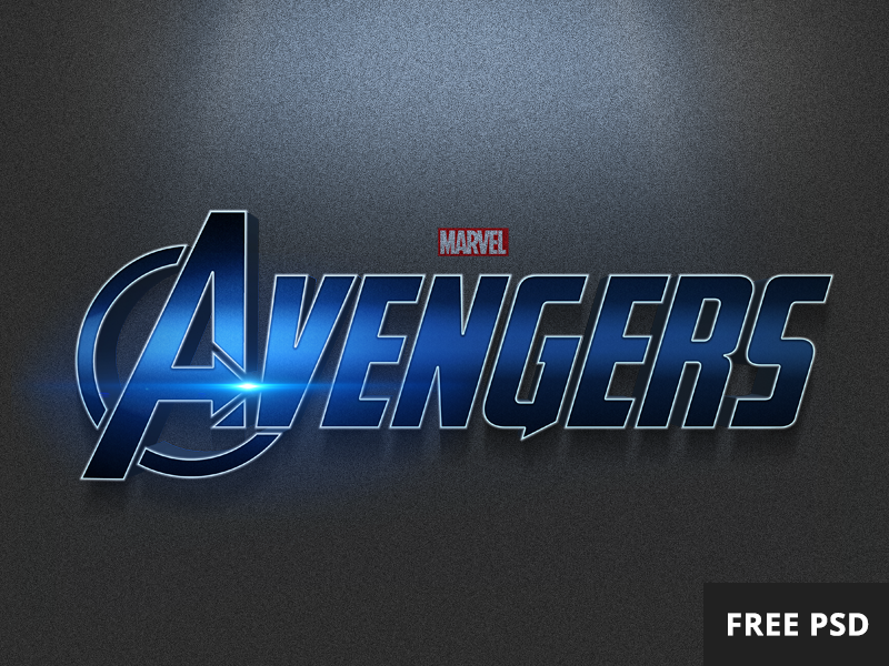 Free Avengers PSD text style Poster tutorial, Text style