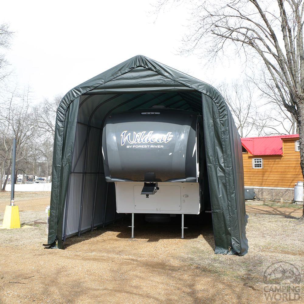 ShelterLogic ShelterCoat Peak Shelter, 16'W x 44'L x 16'H