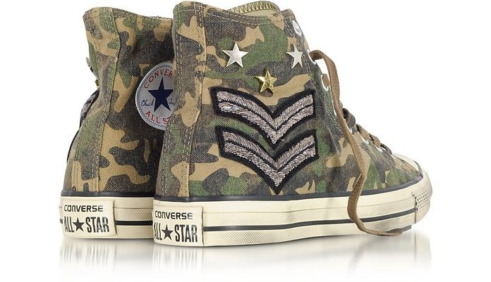 15c309370879 Chuck Taylor All Star High Military Patchwork Canvas LTD Unisex Sneakers  crafted in antique wash canvas