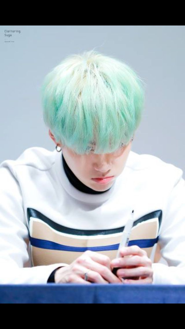 Suga acting all serious haha, that's why we love him.