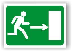 Senal Cartel Rotulo Salida De Emergencia See0025 Puede Poner Salida O Salida Higiene Y Seguridad En El Trabajo Carteles De Seguridad Seguridad E Higiene