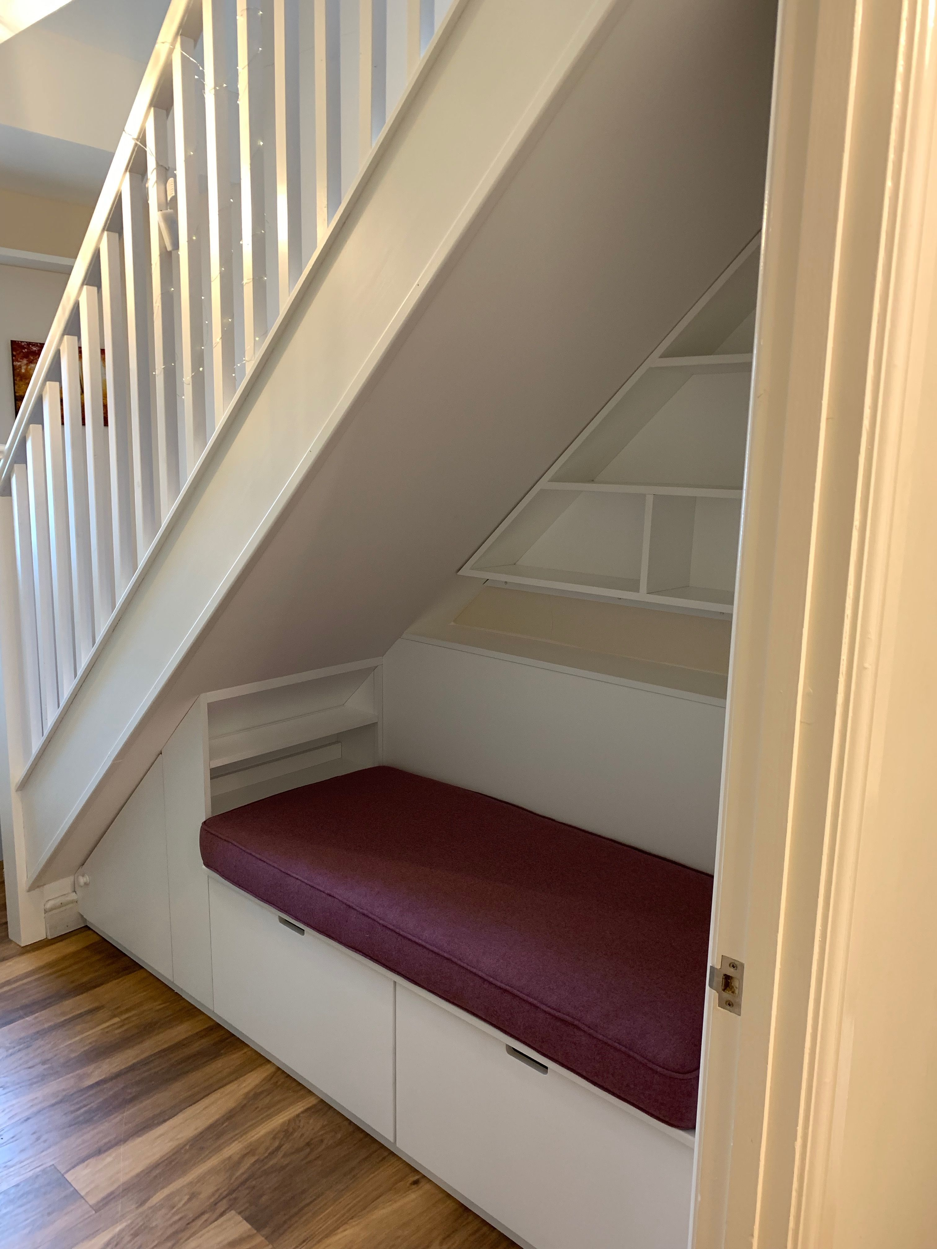 Under Stairs Storage And Seating Area With Deep Drawers ...