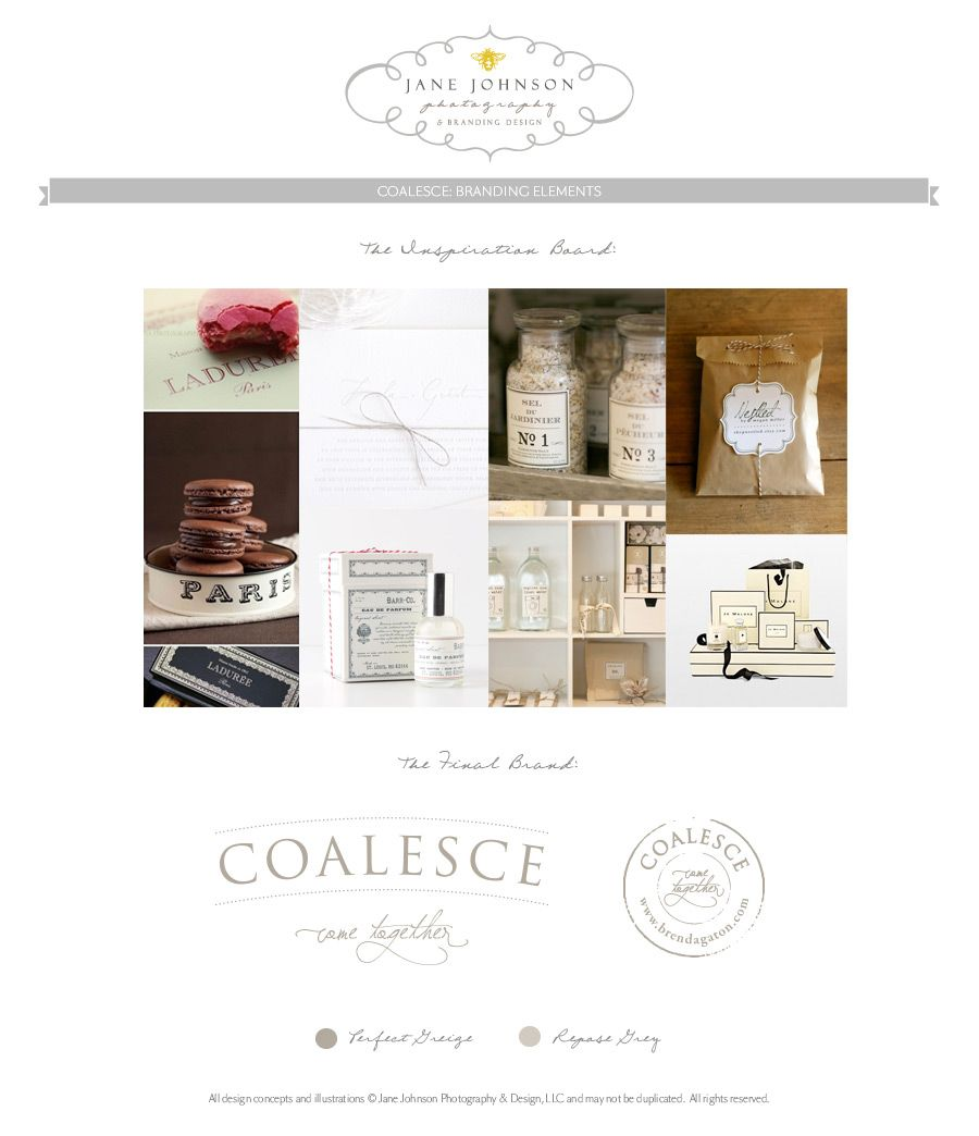 liking this! COALESCE-BRANDING-ELEMENTS from: janejohnsonphotography.com
