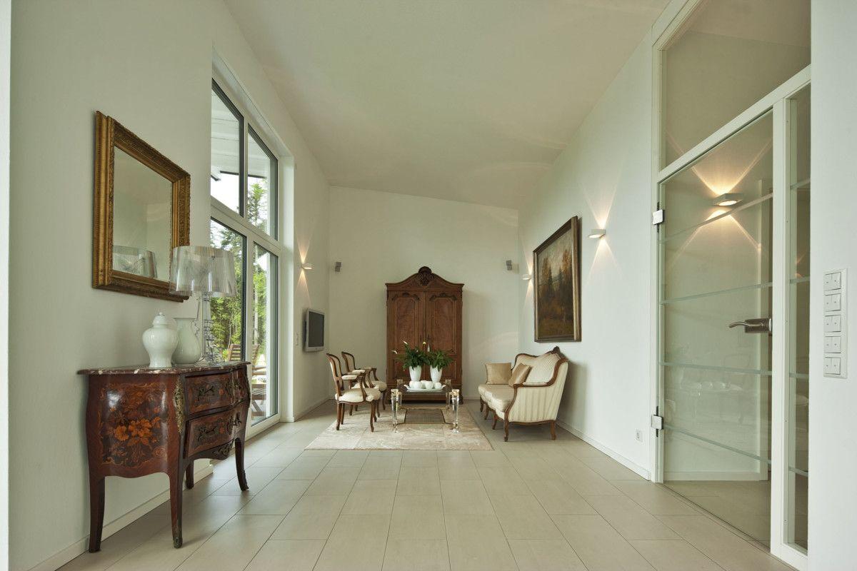 Interior Wohnzimmer Mit Innentüren Modern Weiß Raumhoch Mit Glas    Inneneinrichtung Baumeister Haus Kempf Massivhaus Ideen