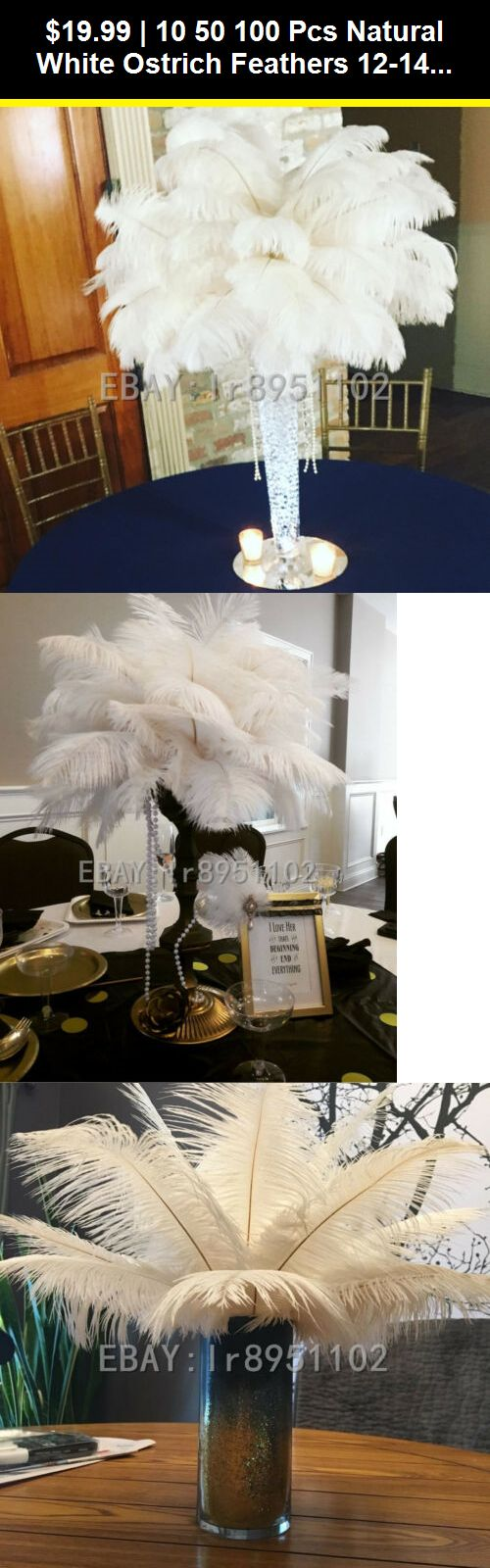 10//50//100 pcs Natural White Ostrich Feathers 12-14 inch//30-35 cm Diy Carnival