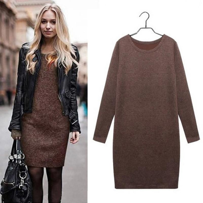 Kleid winter knielang