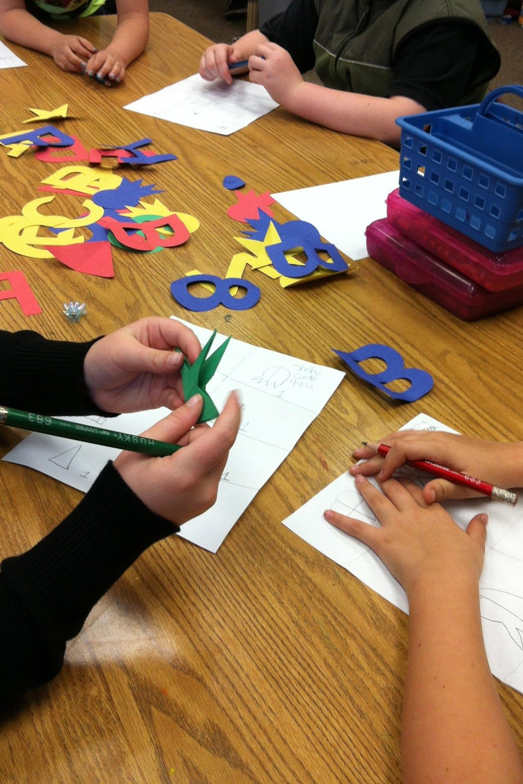 Here S An Easy Fun And Inexpensive Way For Students To Practice Symmetry Just Use The
