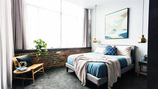 The Block Glasshouse Week Room Reveal Bedrooms Bricks And Room - The block bedroom designs