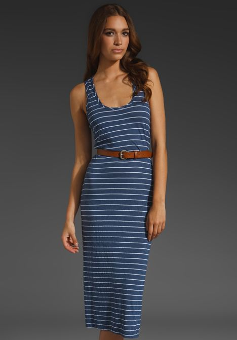 173df54fdf MICHAEL STARS Highline Stripe Midi Dress in Passport at Revolve Clothing - Free  Shipping!