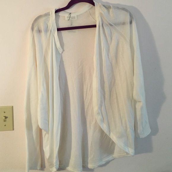 Zara white cardigan Brand new Zara white cardigan. Sheer detailing ...