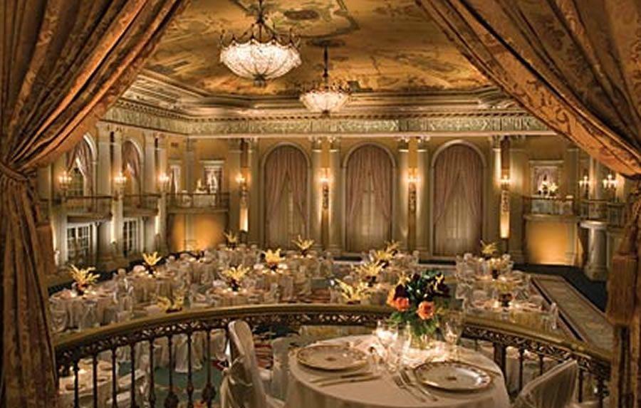 Modern Luxury Crystal Ballroom Historic Hotel Interior
