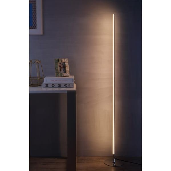 Iris 59 5 led integrated floor lamp chrome by jonathan y silver floor lamp iris and chrome