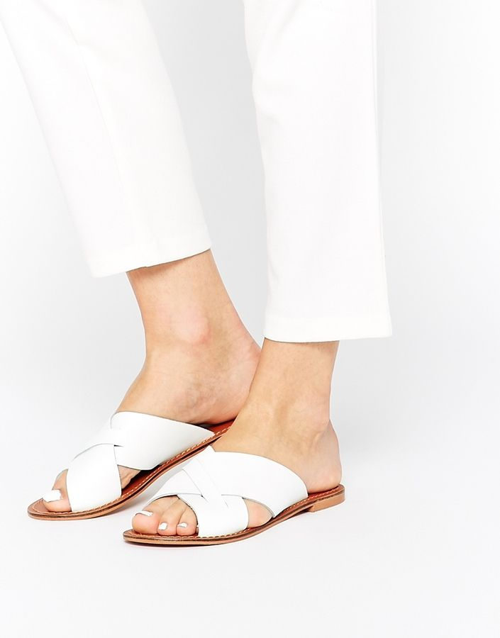 ASOS COLLECTION ASOS FLICK Leather Sliders