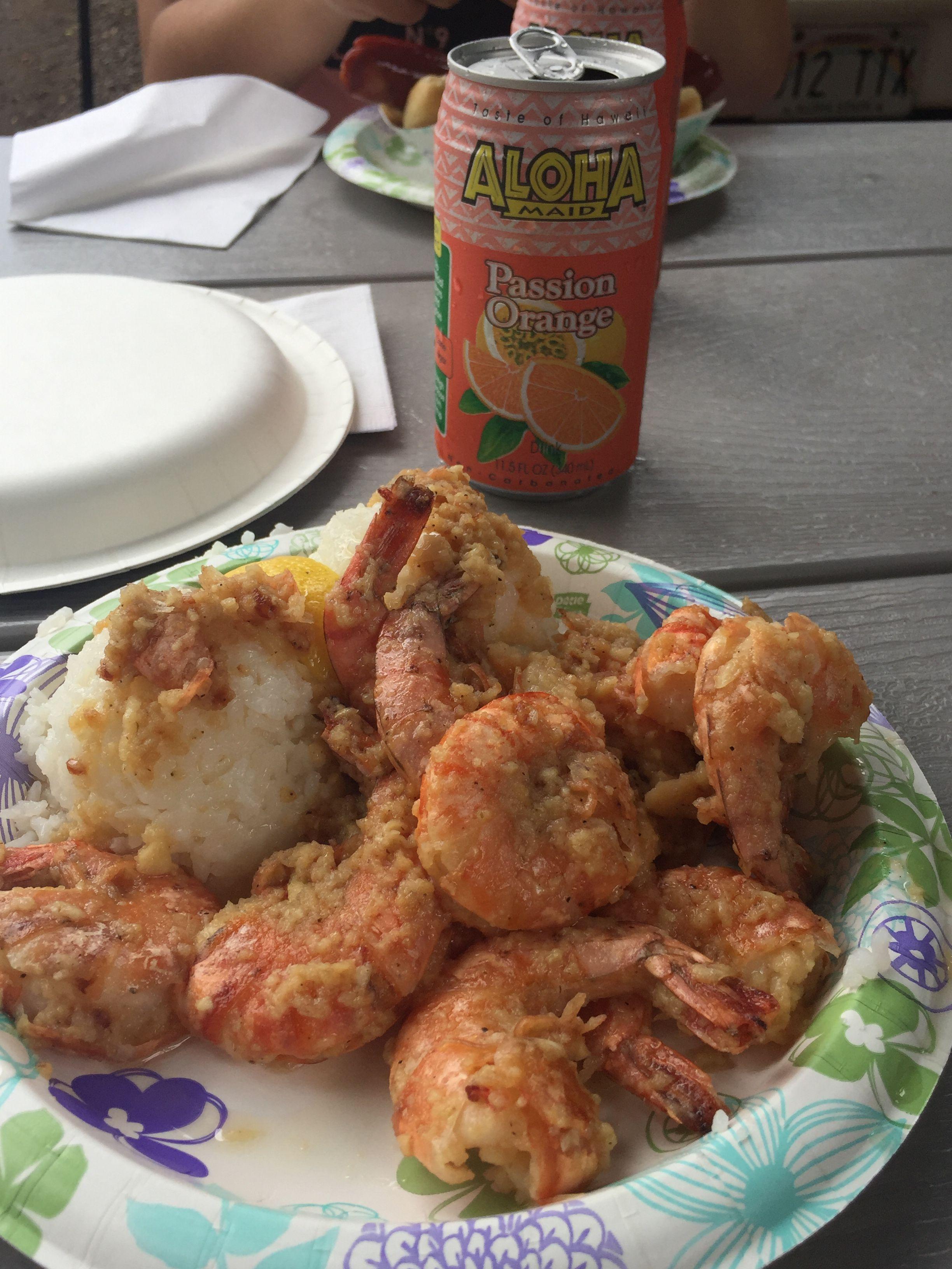 Food truck prawns on oahus north shore hawaiian garlic