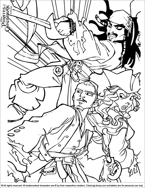 Pirates Of The Caribbean Coloring Page Pirate Coloring Pages Coloring Pages Disney Coloring Pages
