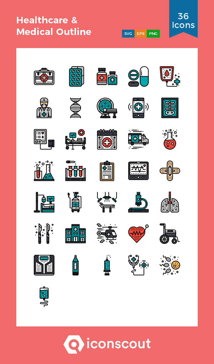 Download Healthcare & Medical Outline Icon pack