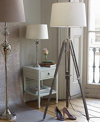 Natural tripod floor lamp base
