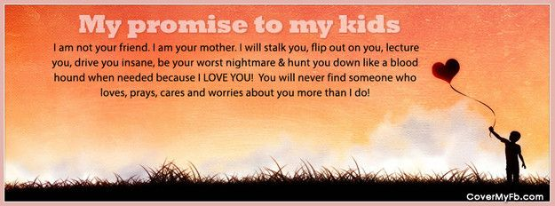 Football Mom Sayings | My Promise To My Kids Facebook Covers, My Promise To  My