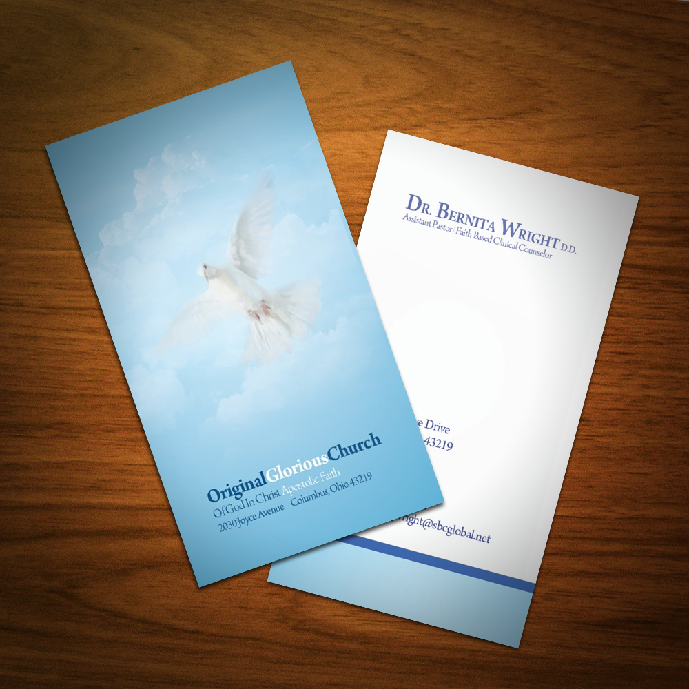 Business Card Design | Dr. Bernita Wright, D.D. | Graphic ...