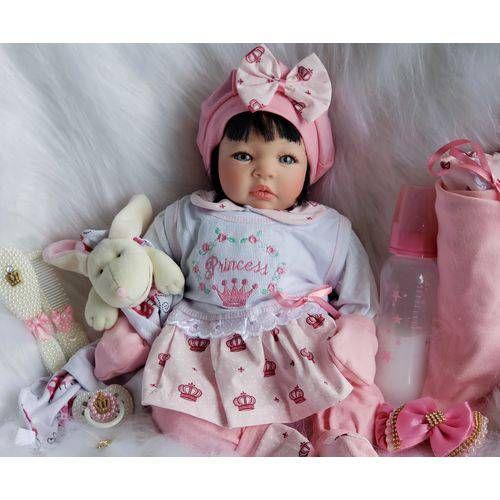 ea621a94c Foto 1 - Boneca Bebê Reborn Real Princesa Morena