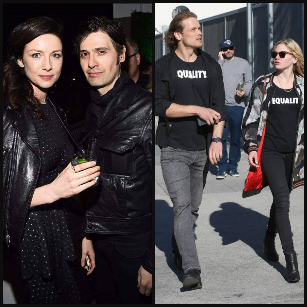 Caitriona with her boyfriend Tony McGill... and Sam with ...