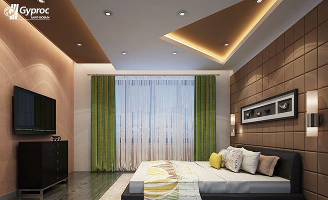 saint gobain gyproc offers an innovative residential ceiling design ideas for various room such as living room bed room kids room and other spaces - Bedroom False Ceiling Designs
