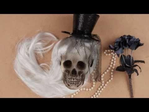 DIY Halloween Crâne customisé - YouTube