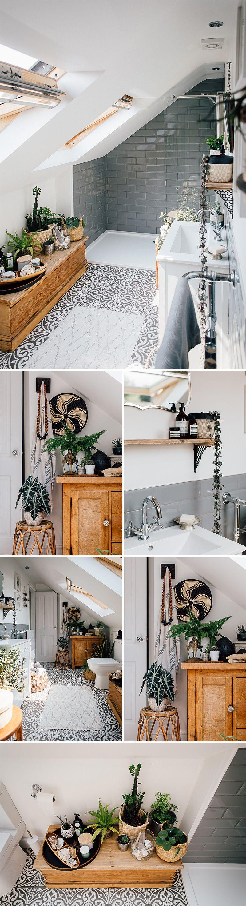 Global Inspired Home Tour Upstairs Home Decor Styles Loft Bathroom Bathroom Inspiration
