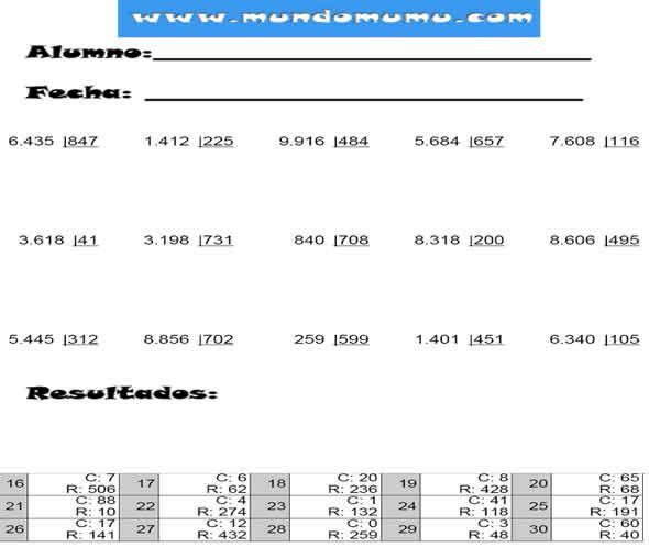 Como Dividir Por Tres Cifras Paso A Paso Ejercicios De Divisiones Por Tres Cifras Con Resultados