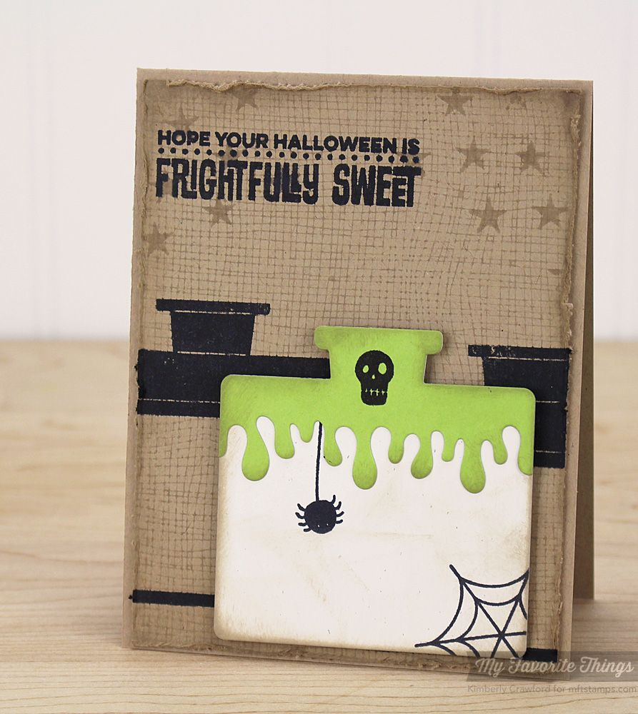 Office Space Stamp Set And Die-Namics, Cheesecloth Background, Spooky  Sentiments, Star Background, Trick Or Treat, Dripping Goo Edge Die-Namics -  Kimberly