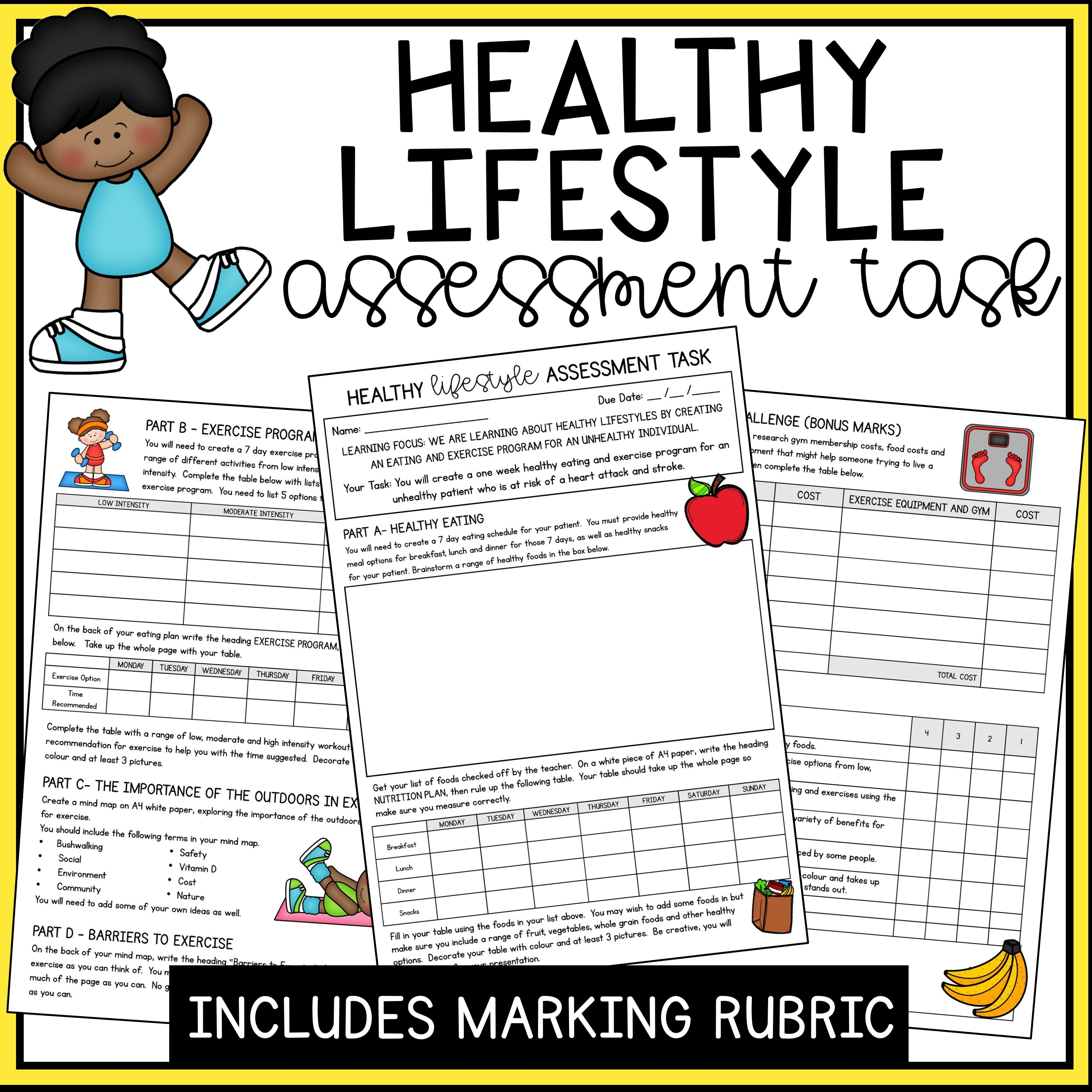Healthy Lifestyle Assessment Task