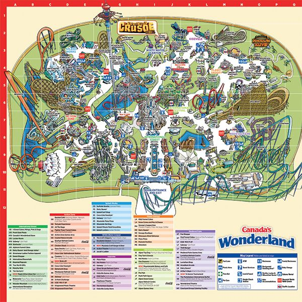 Map Of Canadas Wonderland 2017.Canada S Wonderland Park Map Canada S Wonderland New Ride Yukon