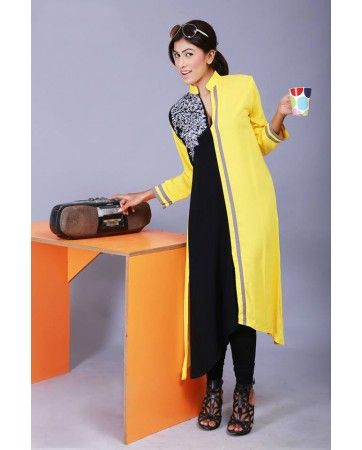 £30. Dispatched from UK www.iluvdesigner.com I LUV Designer - Buy 2 Piece Pakistani Kurti online in Yellow from UK for £30 - Pakistani Dresses Latest Fashion
