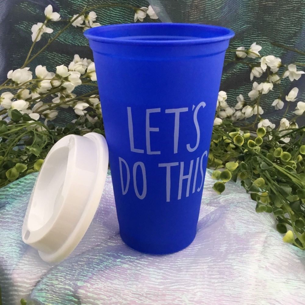 Starbucks 2018 Grande Reusable SUMMER Cup & Lid Lets Do