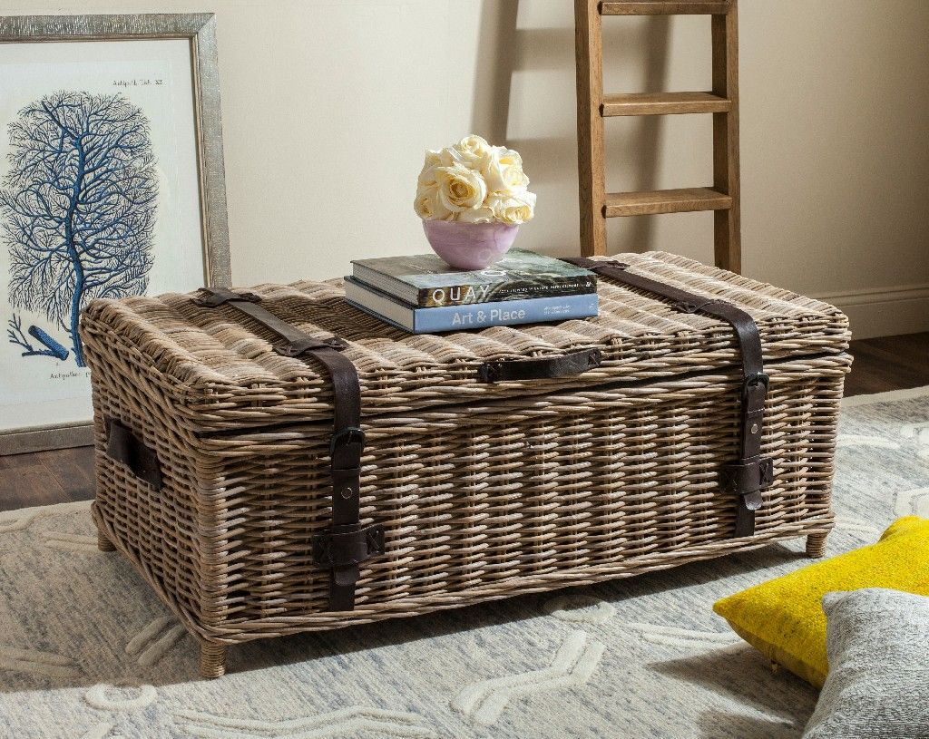 The Wicker Basket Table Is Anything But Smooth It Has A Different