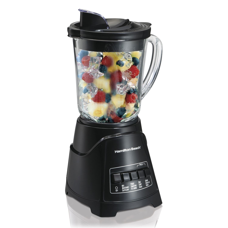 Hamilton beach power elite glass jar blender power