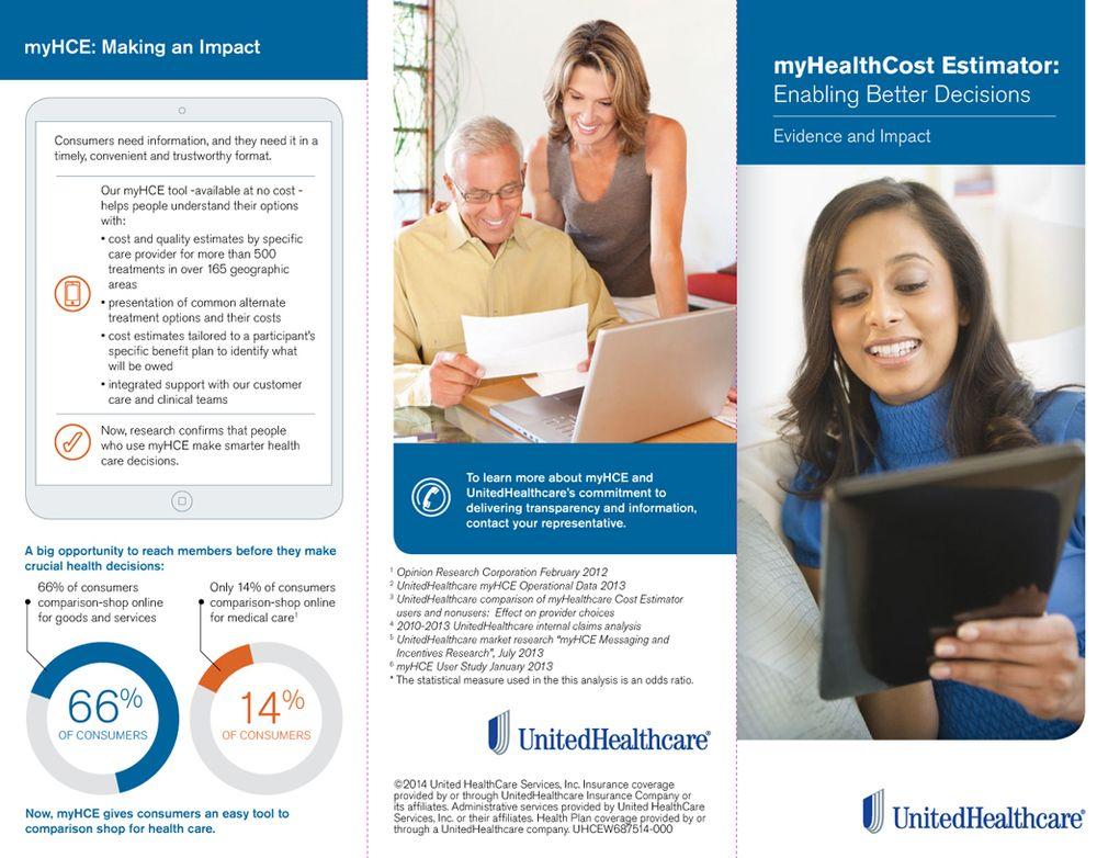 UnitedHealthcare myHealthCare Cost Estimator Brochure u2014 Lisa - healthcare brochure