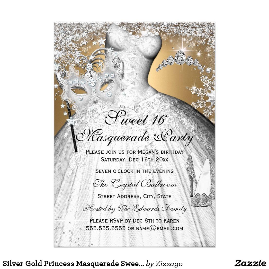 Silver Gold Princess Masquerade Sweet