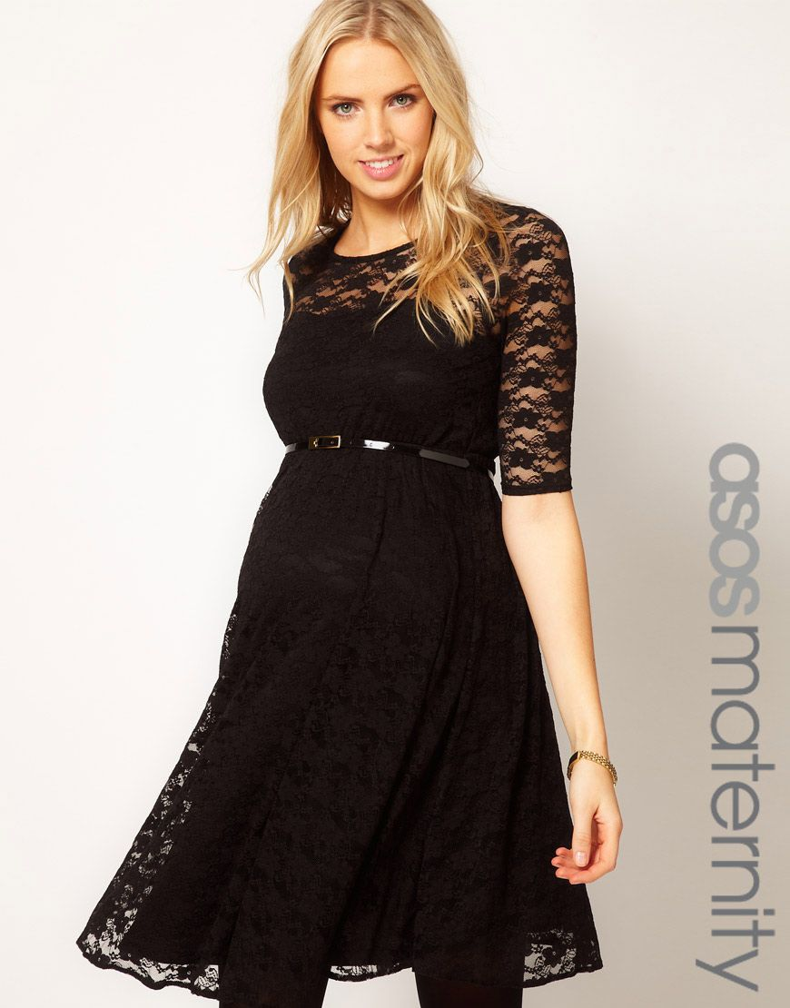 e119bb72f64 ASOS Maternity Lace Skater Dress. Cute!