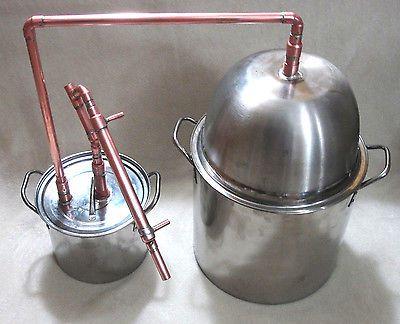 5 Gallon Stainless Steel Pot Still Thumper Copper Column Distill Moonshine Pot Still Wine Making Supplies Making Essential Oils