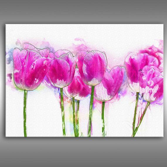 Moderne Malerei Abstrakt Kunstdruck Auf Leinwand, Möbel Design Blumen