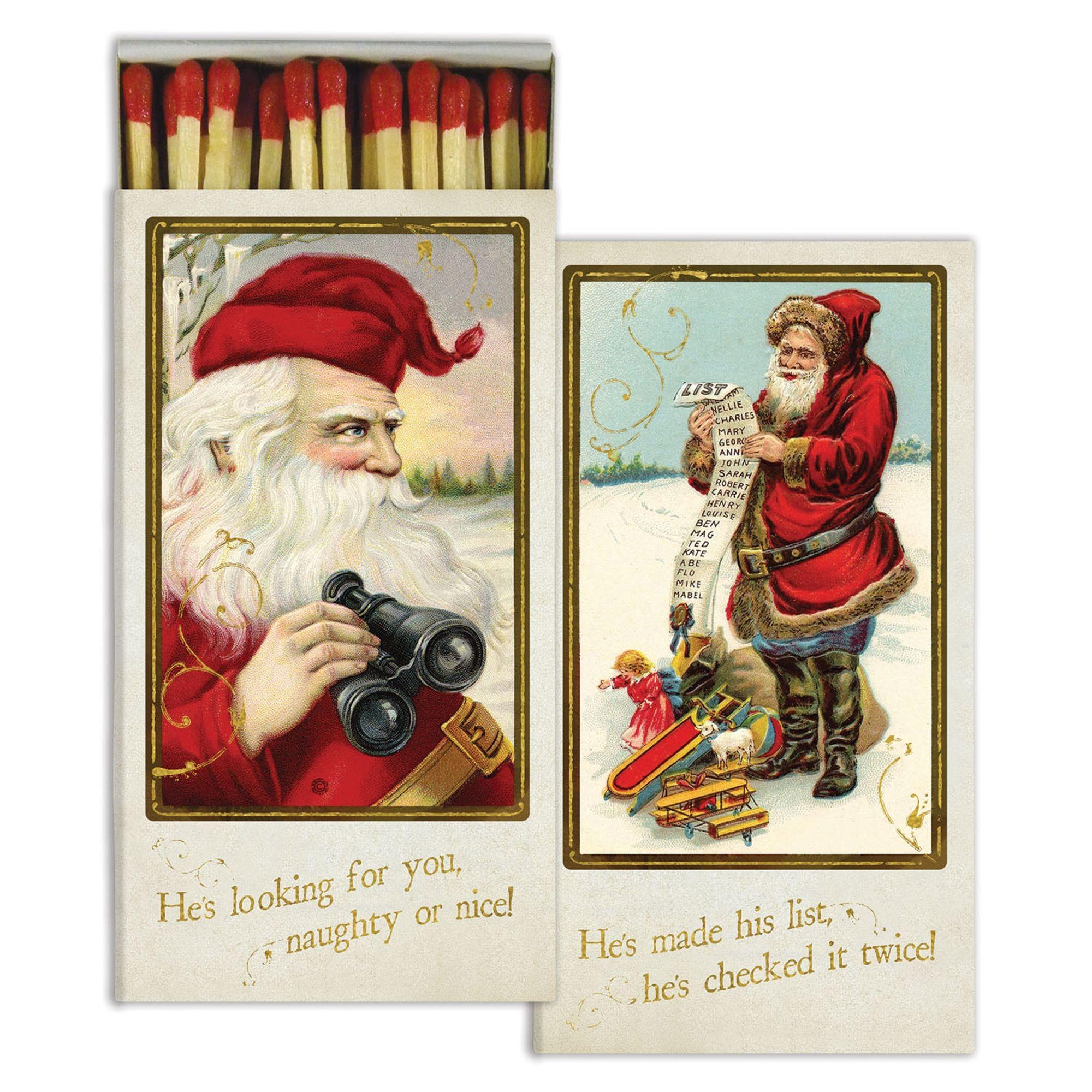 Holiday Santa Decorative Matchbox These Fun Decorative Matches Make A