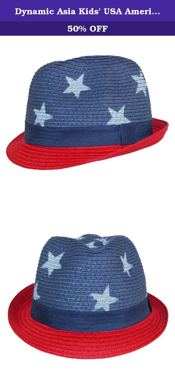 7cd4965c6fb Dynamic Asia Kids  USA American Flag Fedora Hat