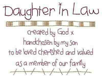 To My Beautiful Daughter In Law Thank You For Loving My Son And For 2 Beautiful Precious Grandbabies I Love You Daughter In Law Quotes Law Quotes I Love My Son